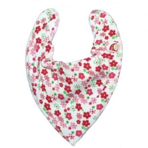 Strawberry Flowers DryBib Bandana