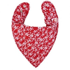 Skulls on Red DryBib Bandana