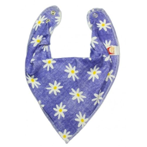 Daisies on Denim DryBib Bandana