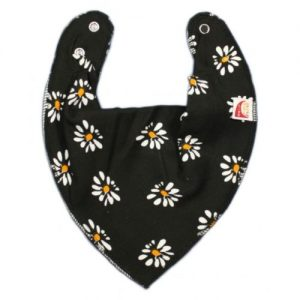 Daisies on Black DryBib Bandana