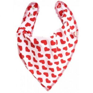 Red hearts DryBib Bandana