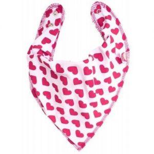 Pink Hearts DryBib Bandana