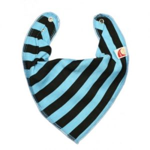 Turquoise & Black Stripes DryBib Bandana