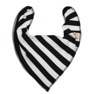Black & White Stripes DryBib Bandana
