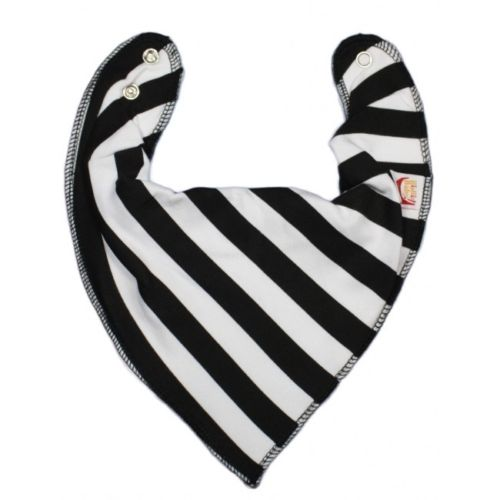 Black & White Stripes DryBib Bandana